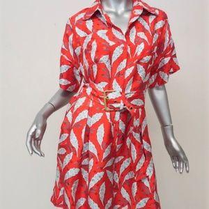 NEW Diane von Furstenberg Belted Shirt Dress